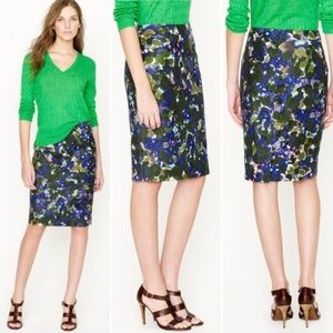 J. Crew No. 2 Pencil Skirt (Gardenshade Floral)